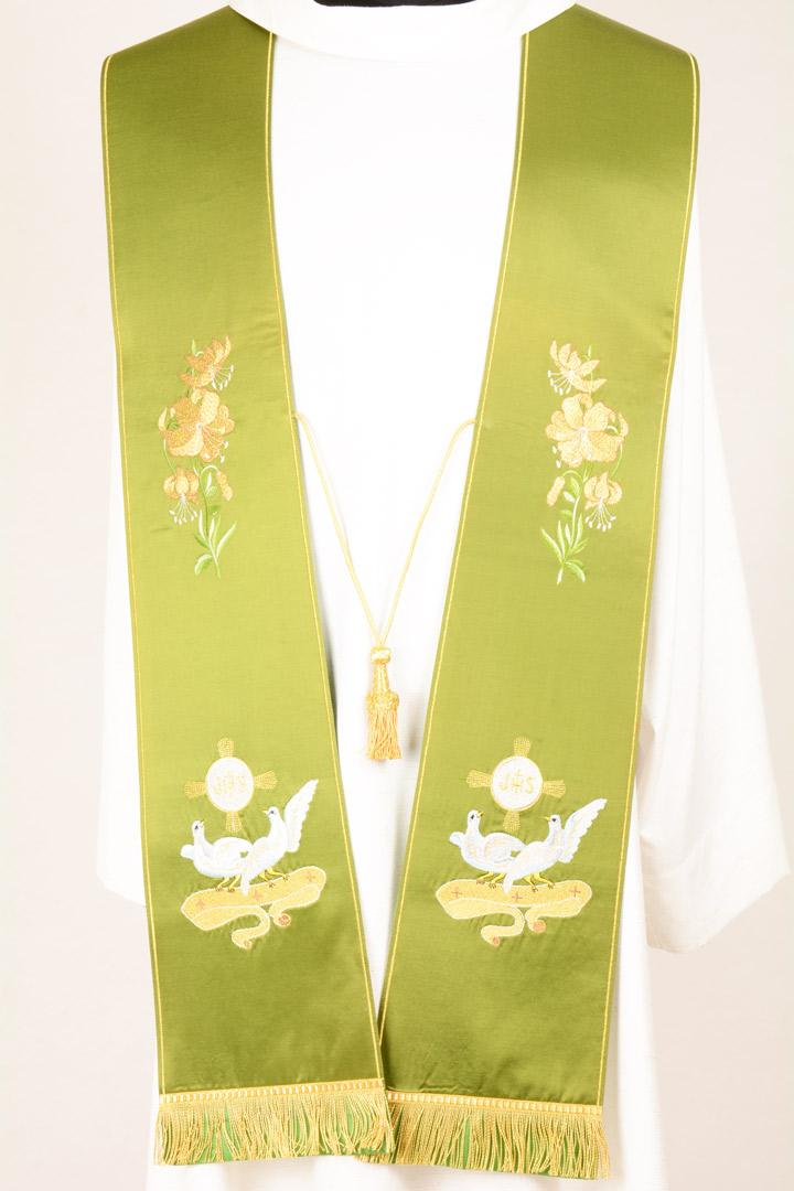 Stola S1 M0 Verde - Faille Misto Lana