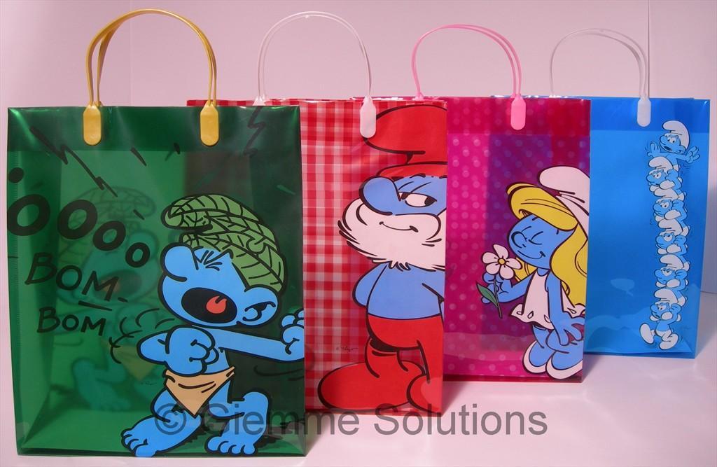Puffi borsa shopping PVC