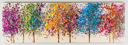 Dipinto a mano Bosco di colori 1