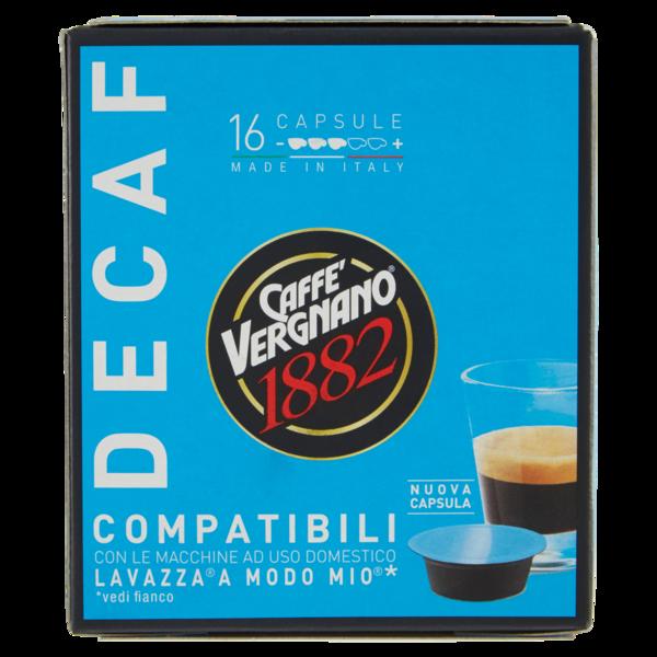 80 Capsule Caffè Vergnano Decaff. - Compatibili Lavazza A Modo Mio