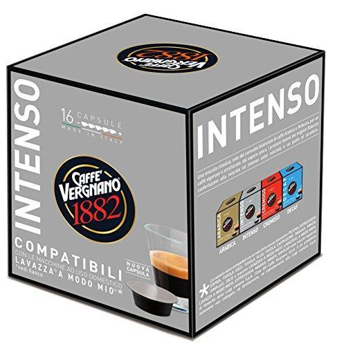 80 Capsule Caffè Vergnano Intenso - Compatibili Lavazza A Modo Mio