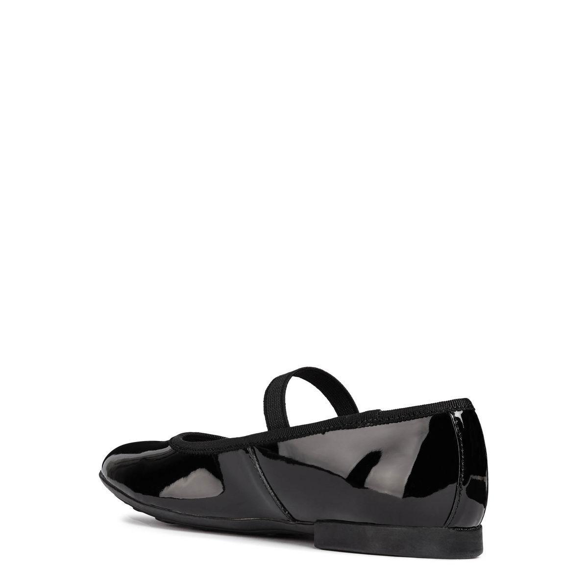 Abbigliamento e accessori Bambina: scarpe GEOX PLIE' BALLERINA JUNIOR GIRL IN VERNICE CON ELASTICO J8455D