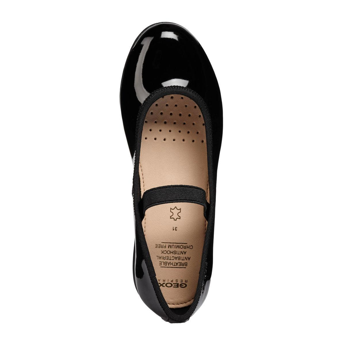 Bambina: scarpe Bambini 2 - 16 anni GEOX PLIE' BALLERINA JUNIOR GIRL IN VERNICE CON ELASTICO J8455D