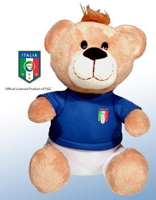 Orsetto Nazionale Calcio Italia FIGC ufficiale peluche 30 cm Originale