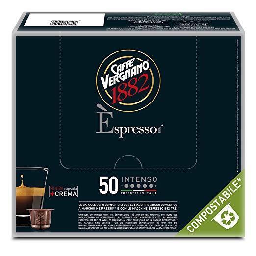 50 Capsule caffè Vergnano gusto Intenso - Compatibili NESPRESSO