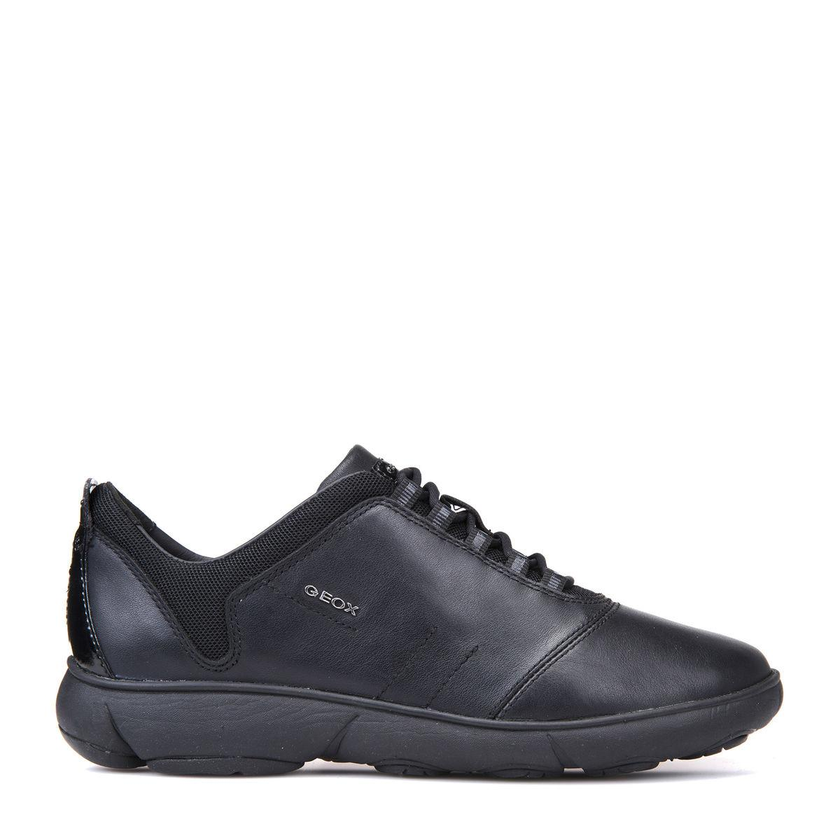 Sneaker Nera Lacci Geox Nebula D641ee Donna Pelle 80kOPnw