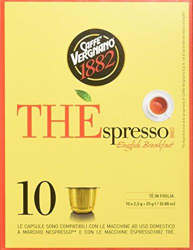 30 Capsule Thè Vergnano gusto English Breakfast - Compatibili NESPRESSO