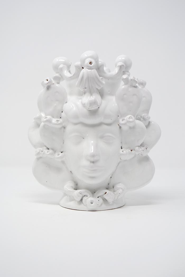 Testa di Moro Bianca in Terracotta