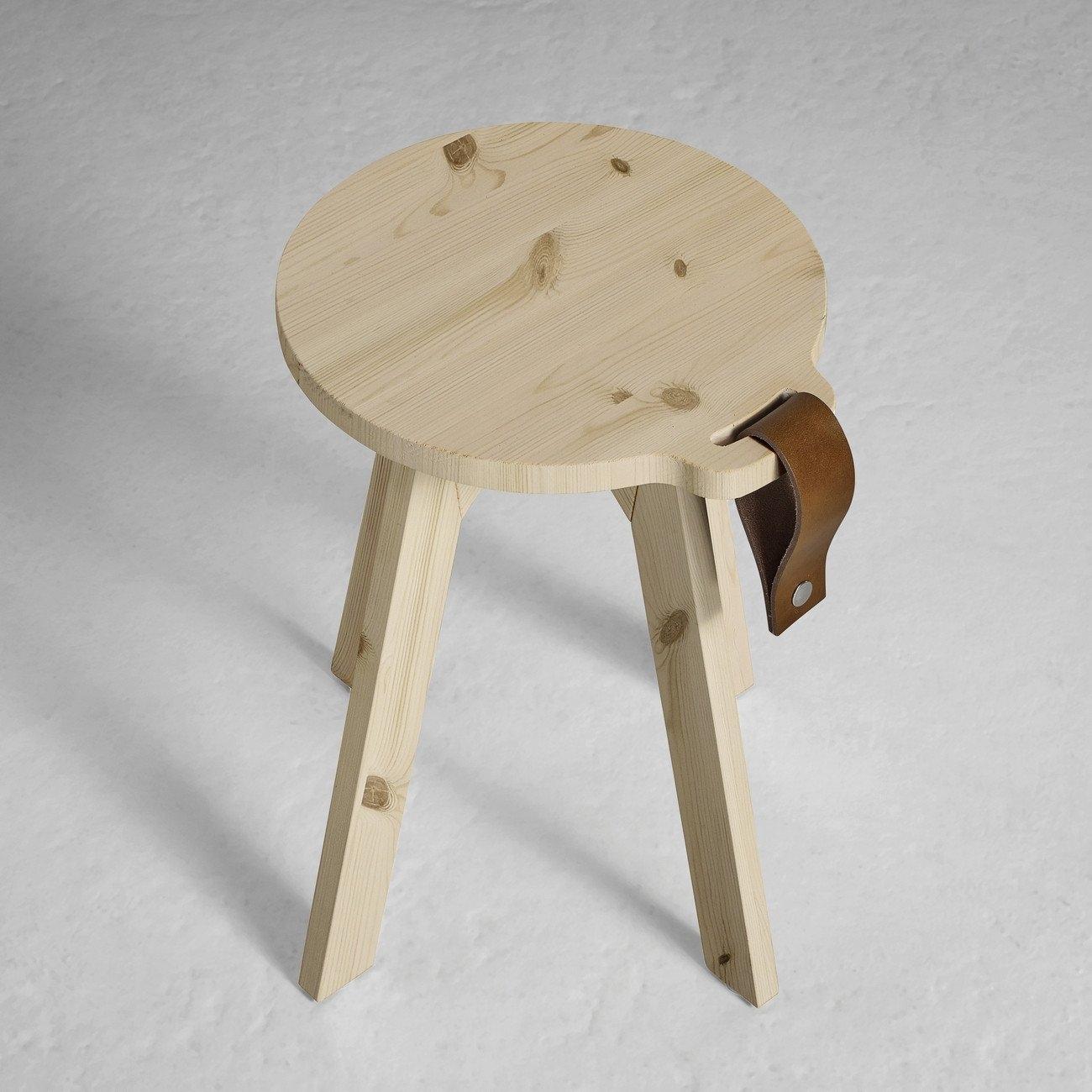 Country sgabello in legno