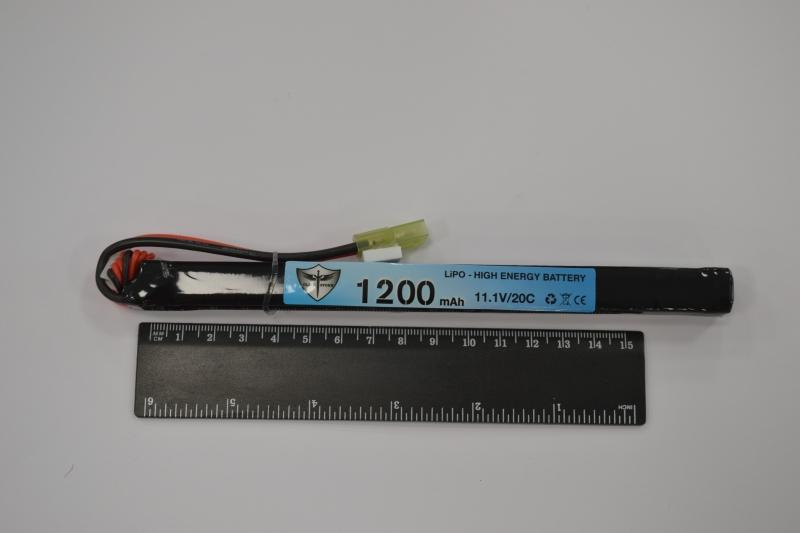 Black Storm 1200mAh Lipo 11.1V 20C super slim stick 14.5 x 15 x 169mm