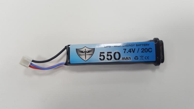 Black Storm MARUI AEP 7.4V 550MAH 80x25x13mm ( PISTOLE ELETTRICHE )