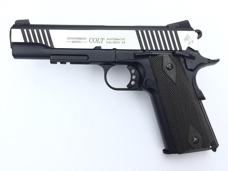 COLT 1911 Rail Gun ® CO2 Dual Tone