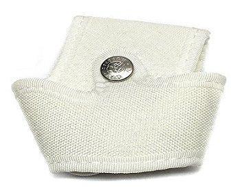 Porta manette aperto in cordura Bianco