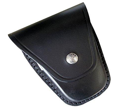 Porta manette chiuso in cuoio Nero
