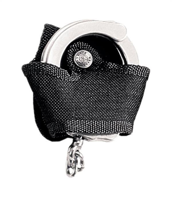 Porta manette aperto in cordura Nero