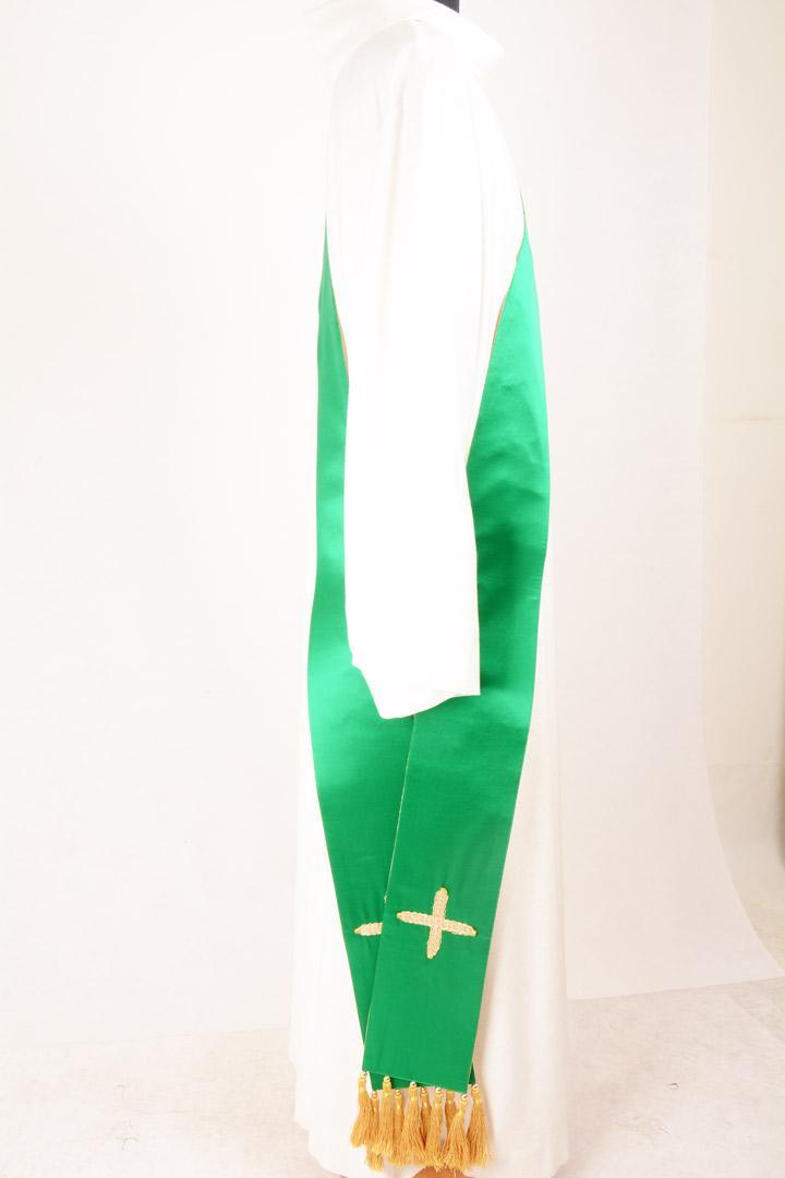 Stola Diaconale SD900 M2 Verde - Seta Greggia Lurex