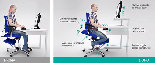 Sedie ergonomiche benessere in ufficio for Sedia ergonomica