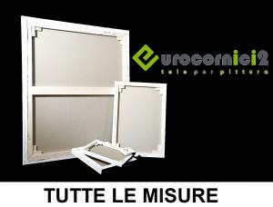 Tele in Misto Cotone per Dipingere - Profilo 2 cm Standard - Telaio Telato in Misto Cotone 2 cm - Gallery