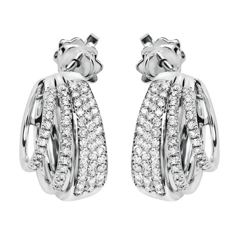 Orecchini salvini EUFORIA in oro bianco e diamanti