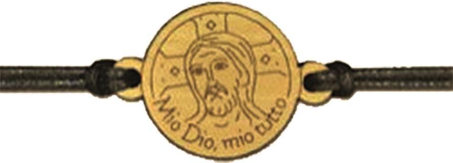 Braccialetto in ulivo Cristo