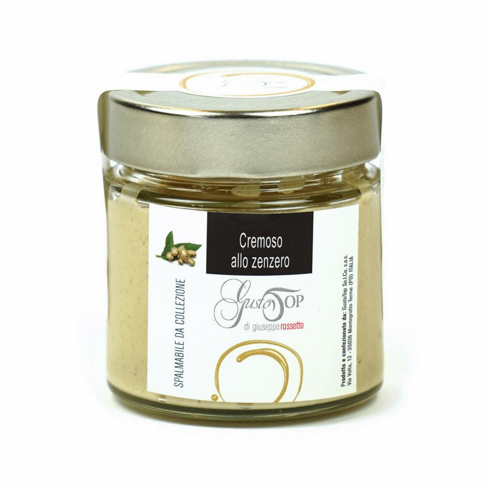 Spalmabile al cioccolato bianco e zenzero, confezionato in vasetto da 200 gr