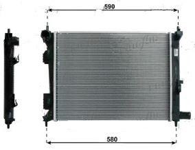 Radiatore motore Hyundai Veloster, ORIGINALE