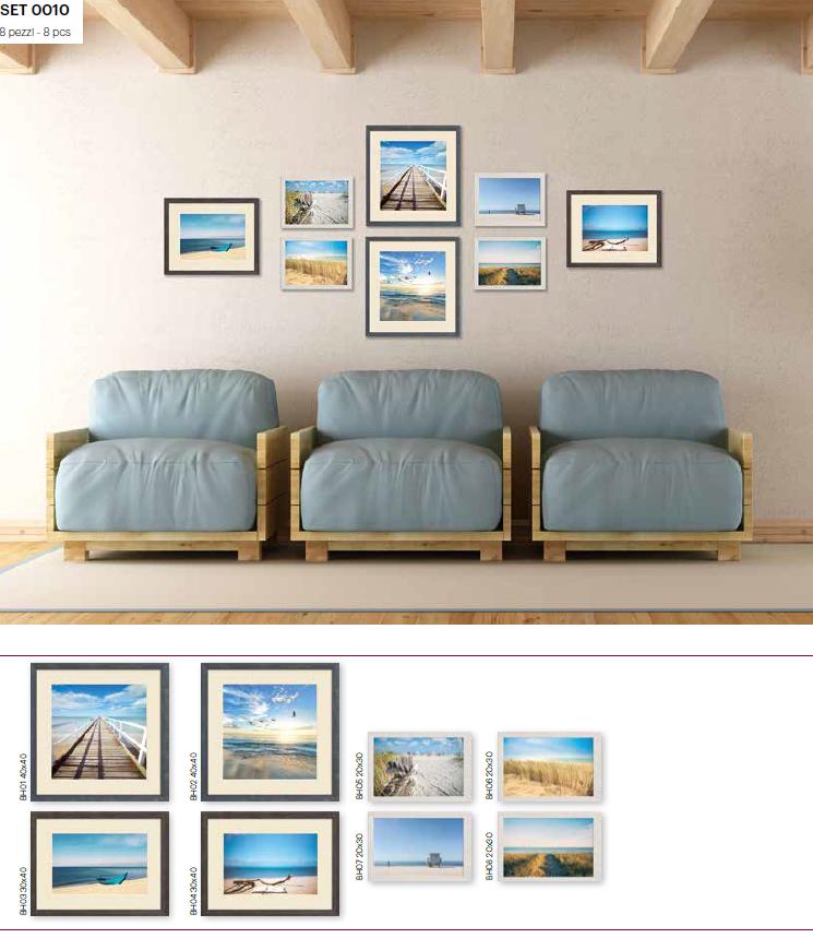 Set di stampe incorniciate Beach in Adele