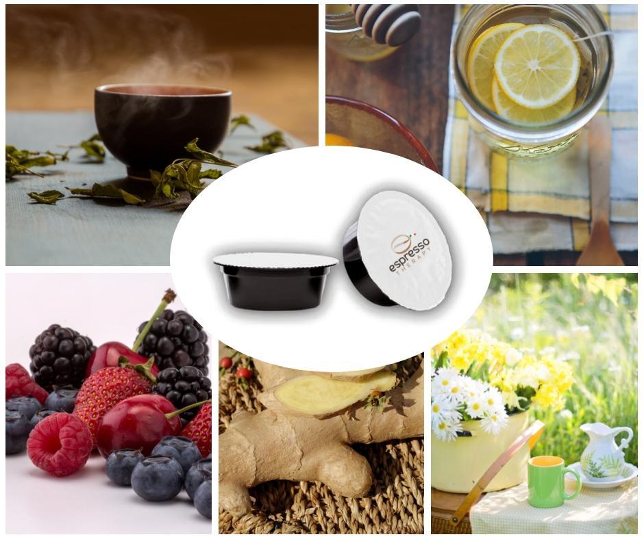 100 capsule compatibili A Modo Mio mix a scelta di tè tisane e solubili