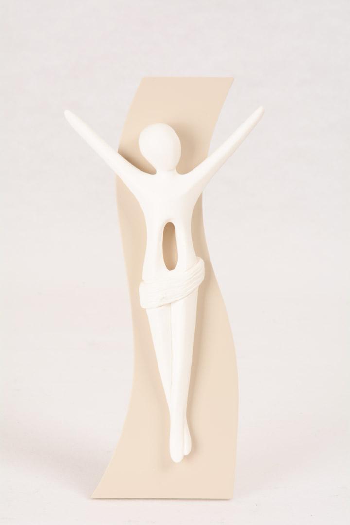 Bassorilievo Cristo Kenosis Bianco Luna 4731B 16x5 cm