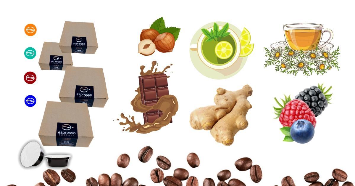 156 capsule compatibili A Modo Mio+ 40 capsule tè tisane cioccolata ginseng zenzero a scelta