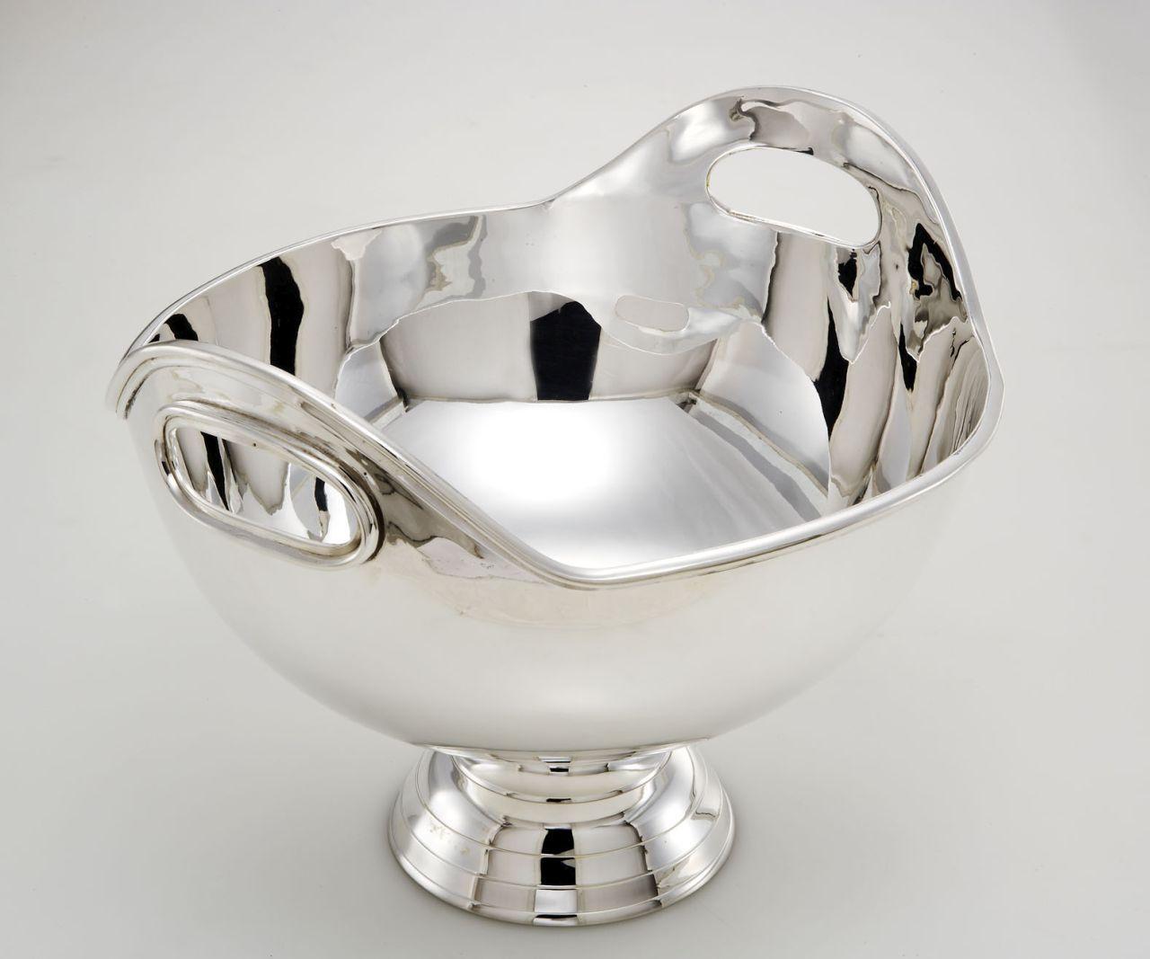 Spumantiera secchiello champagne con manici argentato argento sheffield