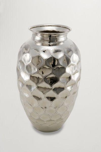 Vaso goccia stile goccia argentato argento sheffield cm.35,5h diam.13