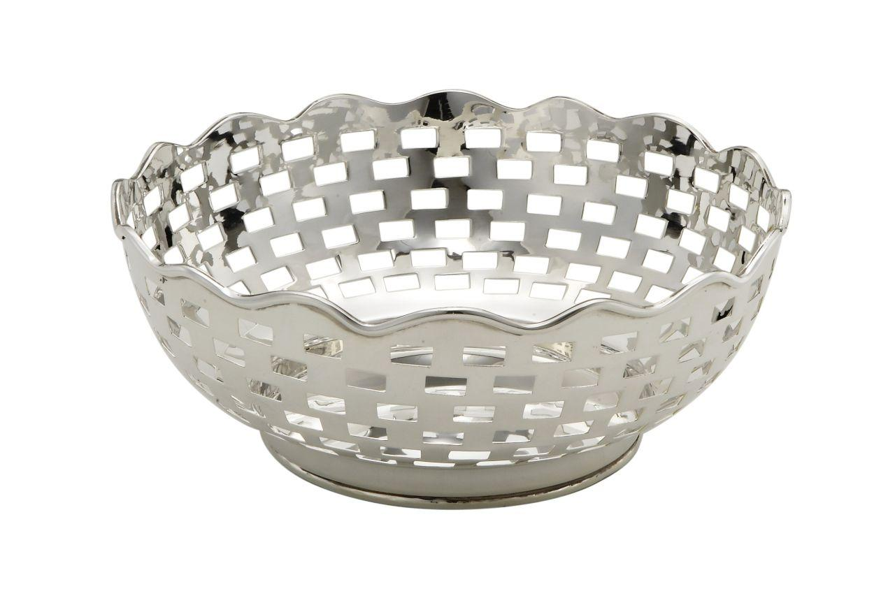 Ciotola argentata argento sheffield cm.8,5h diam.23