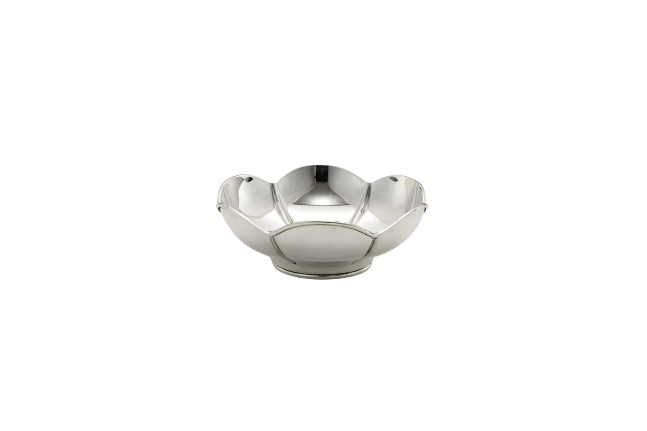 Ciotola argentata argento sheffield cm.8,5h diam.22