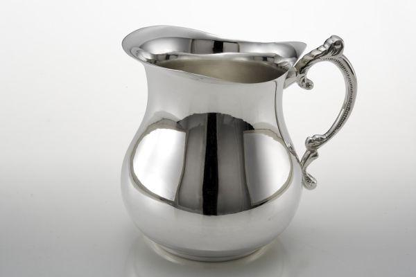 Brocca caraffa argentata argento sheffield liscia stile Cardinale cm.15x11x14,5h