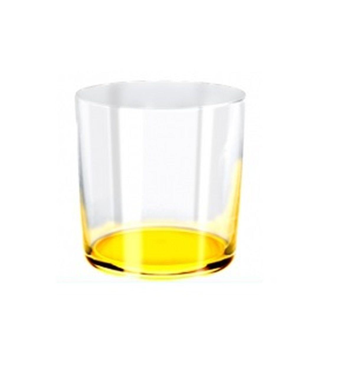 Bicchiere acqua burano giallo ml390 stile burano