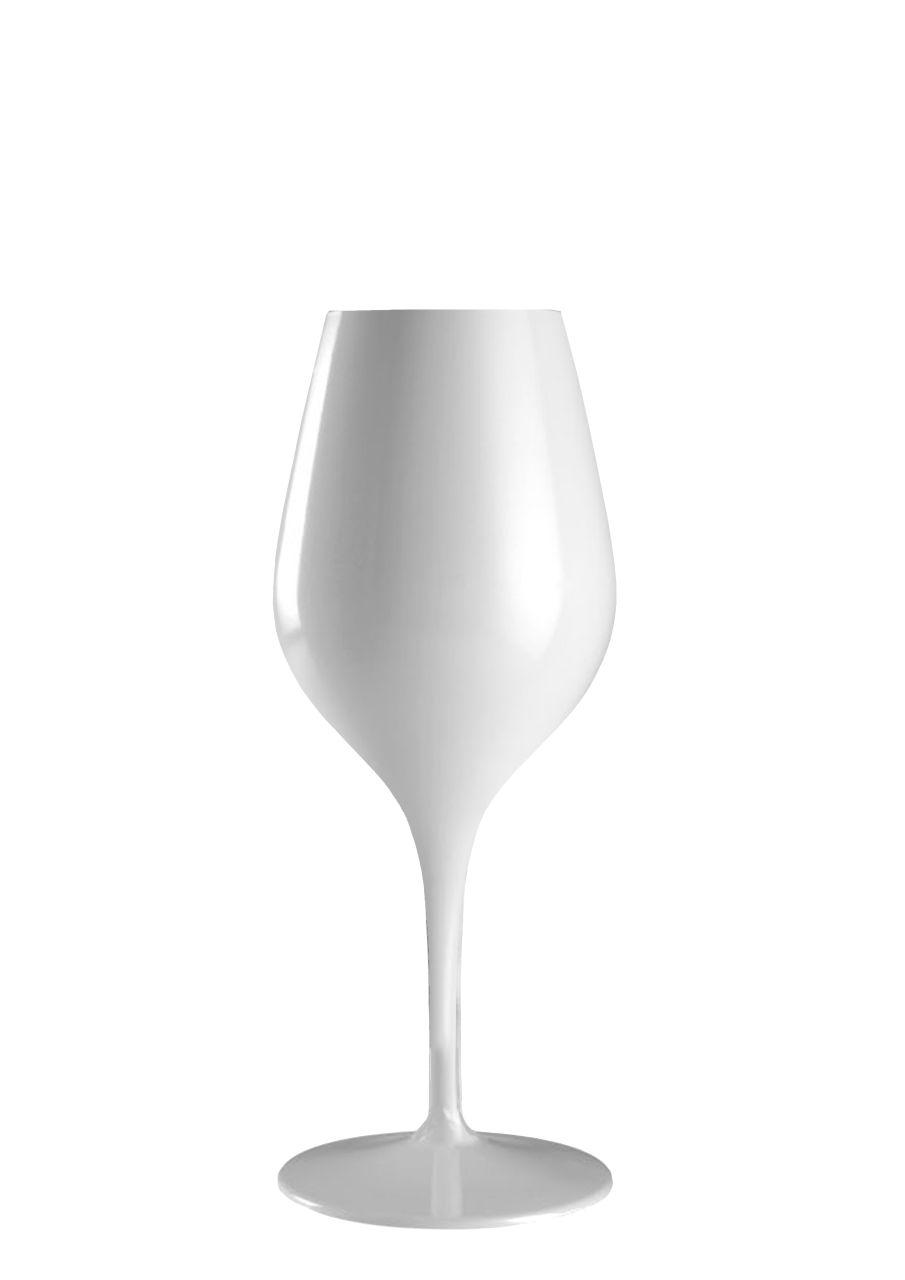 Calice vetro vino bianco colore bianco stile white moon 350ml stile Liscio cm.20,3h diam.8