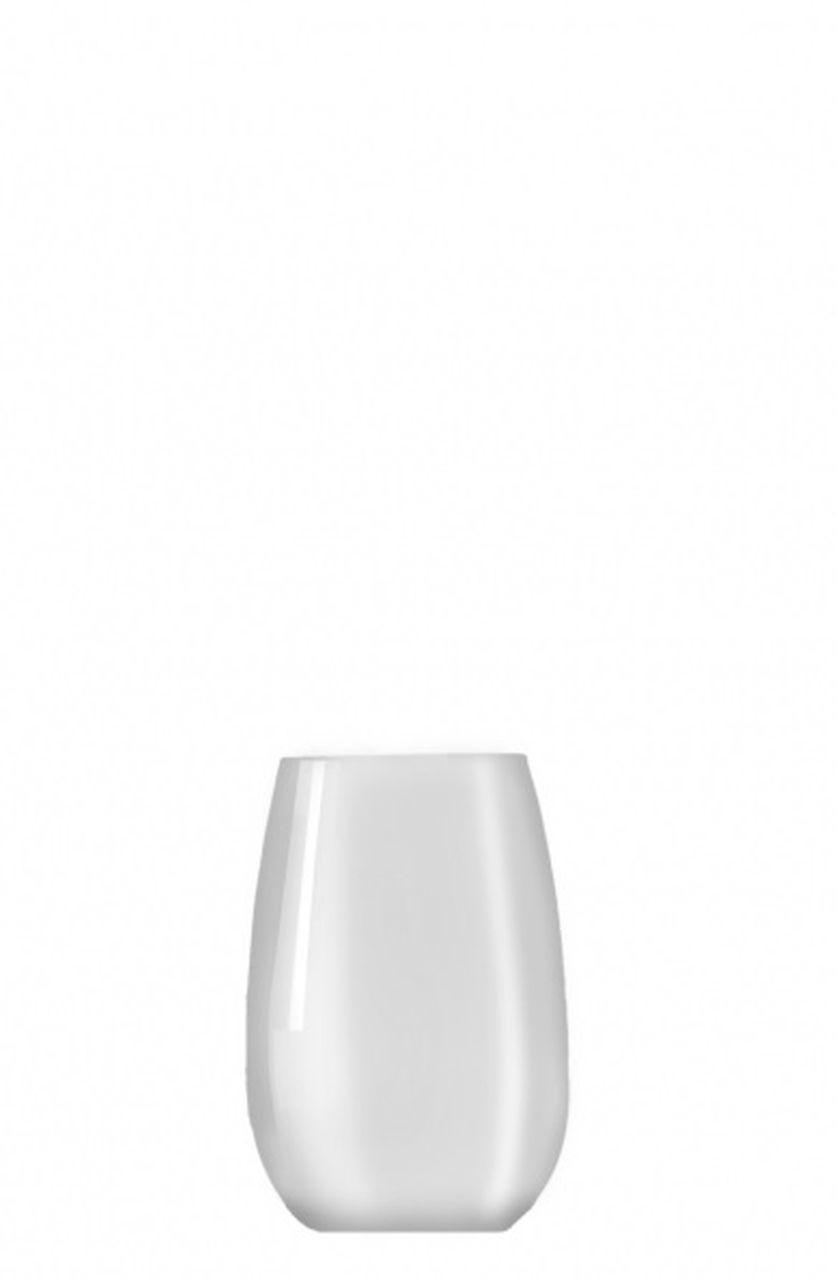 Bicchiere vetro tumbler acqua bianco ml 335 stile white moon cm.10,5h diam.7,5
