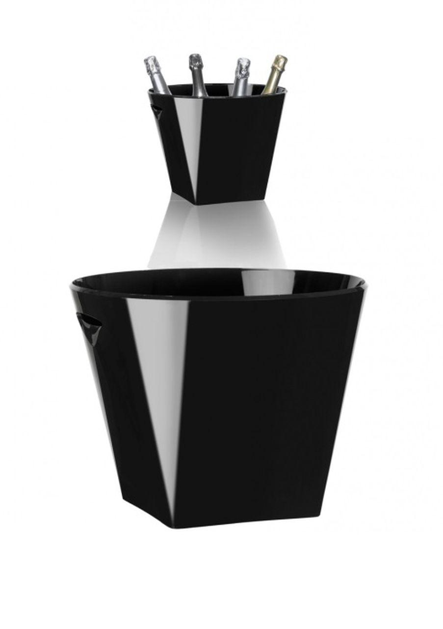 Spumantiera nera per 4 o 5 bottiglie cm.34,5x34,5x26,5h