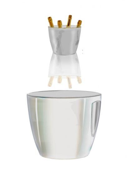 Spumantiera bianca per 4 bottiglie cm.31x31x26h