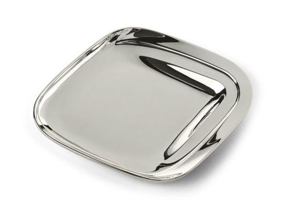 Piattino curti design in silver plated cm.13x11,5x3,5h