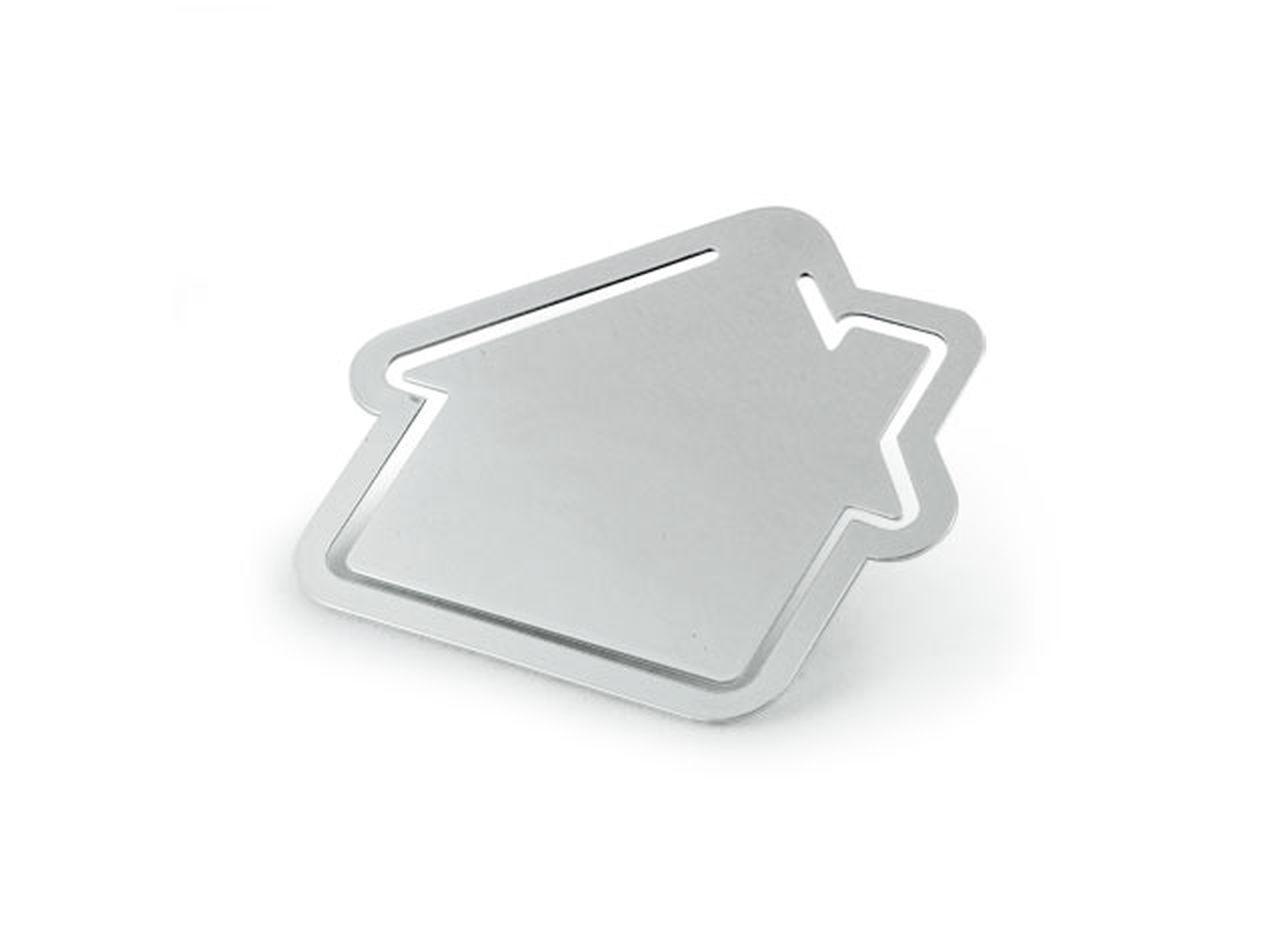 Segnalibro casetta in silver plated
