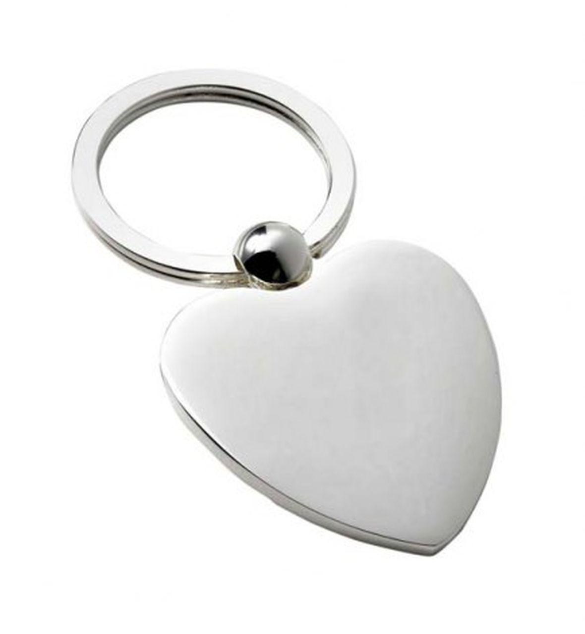 Portachiavi cuore silver plated
