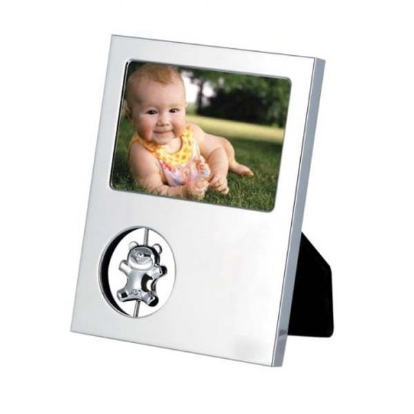 Portafoto orsacchiotto in silver plated cm.12x9,5x2h