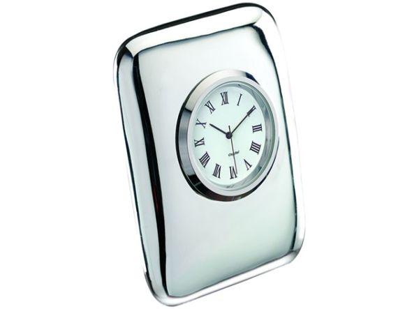 Orologio da tavolo Tiffany in silver plated cm.2x2,5x5,5h