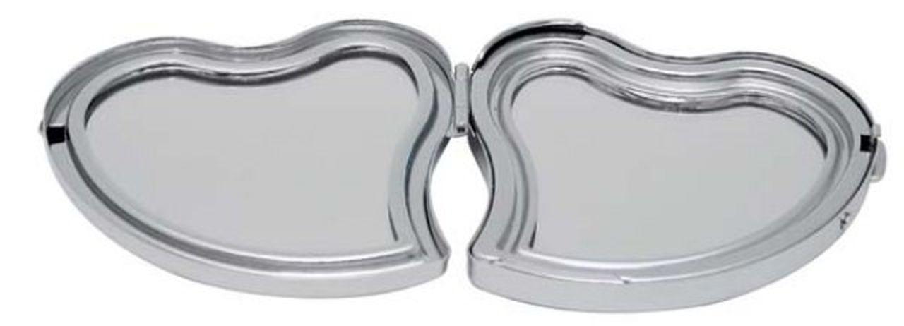Specchio cuore bombato cromato cm.6x6x1,5h