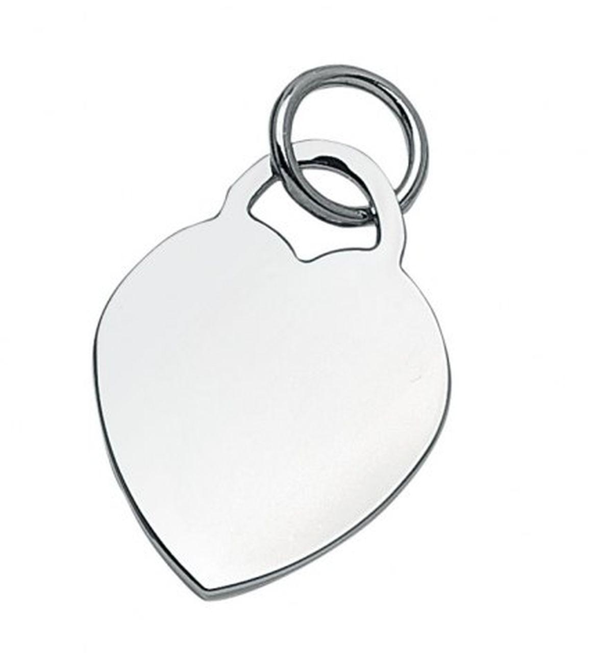 Piastrina charms cuore cm.2,8x2,1x0,2h