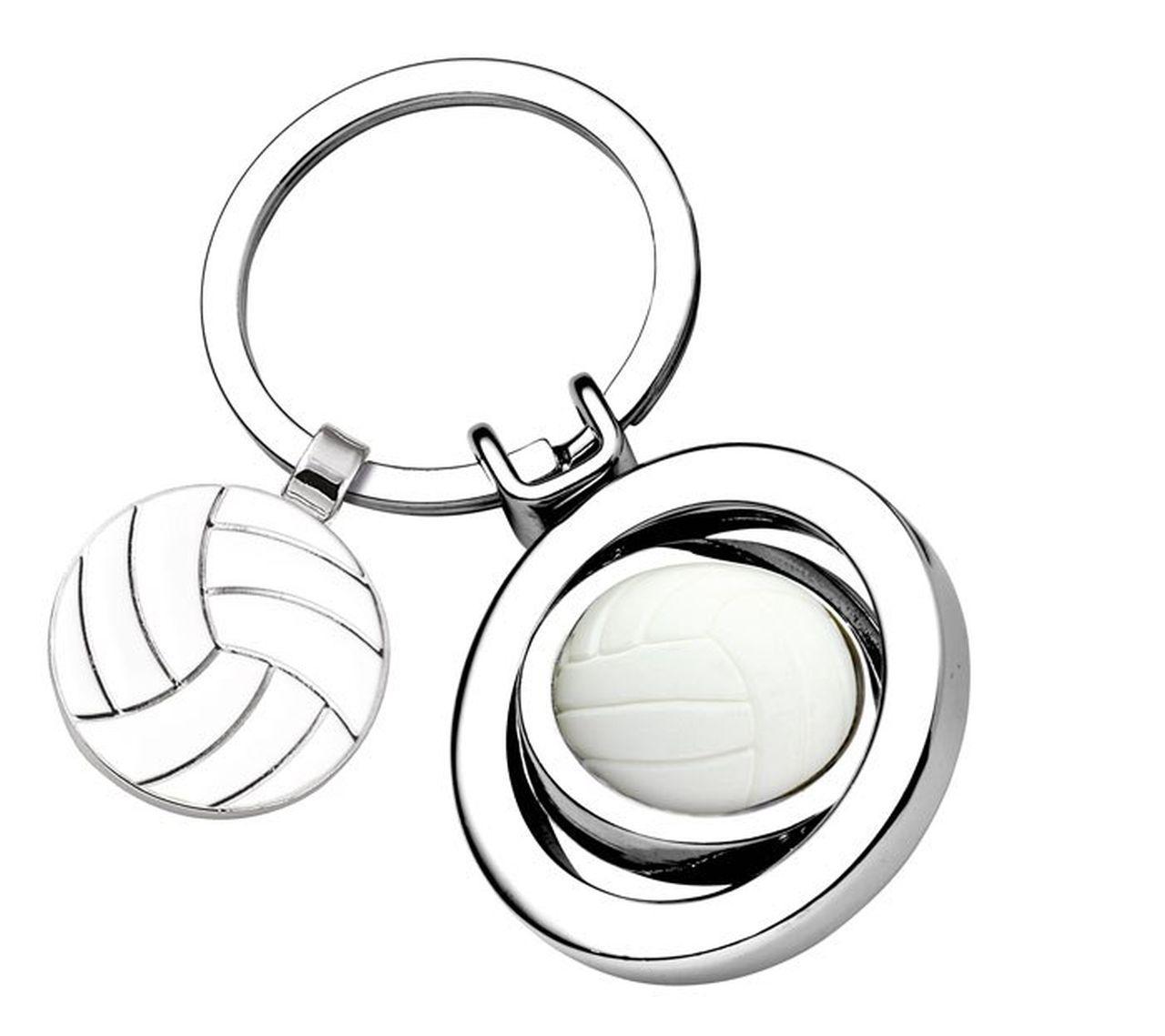 Portachiavi Pallavolo Volley Ball con gettone cm.7,6x3,5x1,8h