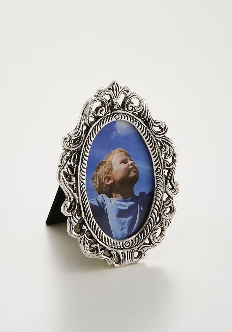 Portafoto ovale argentato argento sheffield stile cesellato cm.7,7x10,2h