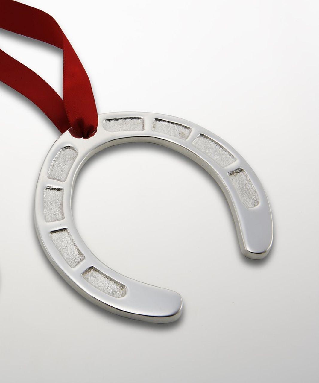 Ferro di cavallo portafortuna argentato argento Sheffield cm.6x6x0,5h
